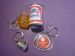 Lot De 4 Portes Clés Thème:la Bière - Porte-clefs