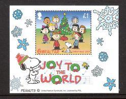 Gibraltar 2003 Christmas, Joy To The World With Dog Peanuts, Mi Bloc 58 MNH(**) - Gibraltar