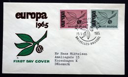 Belgium 1965  EUROPA   MiNr.1397-98  ( Lot 291 ) - FDC