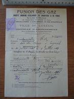 FUSION DES GAZ à Luxeuil (HAUTE-SAÔNE) Année 1918 - France