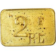 Monnaie, France, Contremarque R L, Atelier Incertain, 2 Francs, SUP, Laiton - Monétaires / De Nécessité