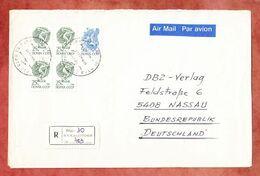 Luftpost, Einschreiben Reco, Diskuswerfer U.a., Riga Nach Nassau 1989 (96731) - Latvia