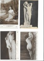 LOT De 4 CPA Reproductions De Tableaux - FEMMES NUES - Künstlerische Akte (1960-…)
