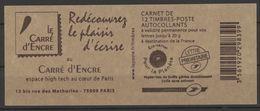 N° 4197 - C22 Y.T. Neuf ** France Type Marianne De Beaujard TVP Rouge Autoadhésif Abonnement Le Carré D'encre - Carnets
