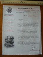 MACHINES-OUTILS - ACNE - Année 1920 - Association Des Constructeurs Du Nord Et De L'Est - France