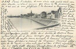 CPA 85 Vendée CROIX DE VIE - Les Quais Près De La Passerelle - Précurseur - 1902 - Saint Gilles Croix De Vie