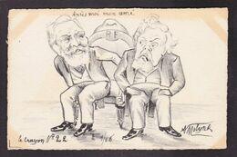 CPA Fallières Armand Président De La République Caricature Satirique Non Circulé Molynk Estampe Loubet - Satiriques