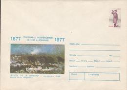 ROMANIAN 1877 INDEPENDENCE WAR ANNIVERSARY, SMARDAN BATTLE, COVER STATIONERY, ENTIER POSTAL, 1977, ROMANIA - Interi Postali