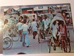 BANGLADESH 7 CARTES RICKSHAW TRICYCLE FISHING PECHEUR BOT SAIL BATEAU - Bangladesh