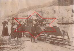 Photo Septembre 1897 ORSAY - Dans Les Carrières De Grès, Wagonnet (A223) - Orsay