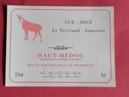 HAUT-MEDOC ETIQUETTE CUVEE SPECIALE CCE-SNCF LE VERCLAND-SAMOENS               /13/08/20 - Bordeaux