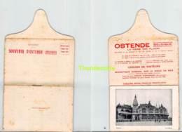 OOSTENDE OSTENDE SOUVENIR D'OSTENDE LIVRE BOEKJE 12 ZICHTEN - Oostende