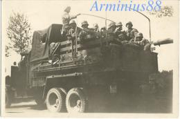 Côtes Françaises - Défense Antiaérienne Allemande - Wehrmacht - Luftwaffe - Flakabteilung - Lkw (WL 63799) - 8,8-cm-FlaK - Guerra, Militari