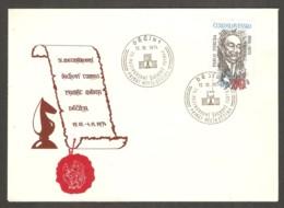 Czechoslovakia 1974 Decin - Chess Cancel On Commemorative Envelope - Scacchi