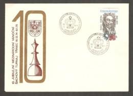 Czechoslovakia 1974 Trinec - Chess Cancel On Commemorative Envelope - Scacchi