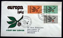 Cyprus 1965   EUROPA / CEPT  MiNr.258-60   FDC   ( Lot 291  ) - Usati