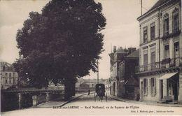 72 - Sablé-sur-Sarthe - Quai National, Vu Du Square De L'Eglise - Sable Sur Sarthe