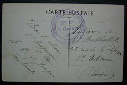 28e Bataillon De Chasseurs Commandant Du Détachement, Cachet Sur Carte D'Avignon, Non Datée - Marcofilie (Brieven)