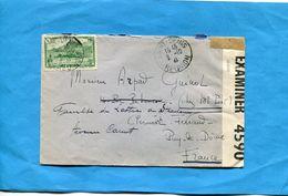 MARCOPHILIE- Réunion Cad ST DENIS-oct 1941   -pour Françe Zone Libre -censure ANGLAISE - Reunion Island (1852-1975)