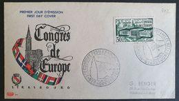 1er Jour - Yvert 923 FDC - 31 Mai 52 - Cote 60€ - FDC