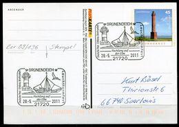 "Germany 2011 PLUSKARTE Leuchtturm Mi.Nr.PSo 103 I Als Stempelbeleg Mit SST""21720 Grünendeich-Leuchtturmfest.""1 GS Used - Lighthouses"