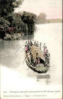 LAOS - Carte Postale - Pirogue Chargée Remontant Le Mékong- L 67309 - Laos