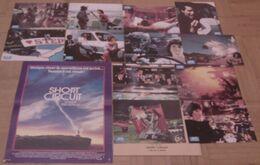 AFFICHE CINEMA ORIGINALE FILM SHORT CIRCUIT + 12 PHOTOS EXPLOITATION John BADHAM GUTTENBERG 1986 TBE - Affiches & Posters