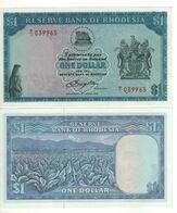 RHODESIA  1 Dollar   P34c   Dated  18.4.1978   UNC   (Tobacco Fields) - Rhodesia
