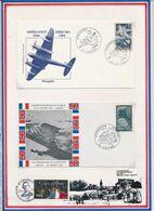 FRANCE - 2 ENV OPERATION JERICHO OBLI JERICHO AMIENS 19.02.84 + OBLI OPERATION JERICHO AMIENS 16/17.02.74 - Guerre Mondiale (Seconde)