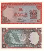 RHODESIA  2 Dollars   P35c   Dated  5th. August 1977   UNC   (Victoria Falls) - Rhodesia