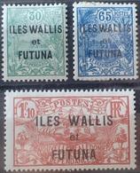 R3586/1303 - 1927/1928 - COLONIES FR. - WALLIS Et FUTUNA - SERIE COMPLETE - N°40 à 42 NEUFS* - Cote (2020) : 15,75 € - Wallis And Futuna