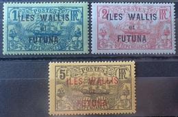R3586/1304 - 1920 - COLONIES FR. - WALLIS Et FUTUNA - N°15 à 17 NEUFS* - Cote (2020) : 31,00 € - Wallis And Futuna