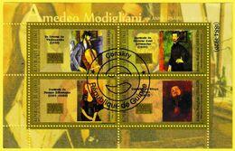 Bloc Feuillet Oblitéré De 4 Timbres-poste - 90e Anniversaire De La Mort D'Amedeo Modigliani - République De Guinée 2010 - República De Guinea (1958-...)