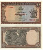 RHODESIA  5 Dollars   P40   Dated  15th. May 1979   UNC   ( Lions ) - Rhodesia