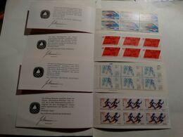 4 Carnets De Timbres Neufs ( Deutsche Bundespost Berlin) Vélo-haltérophilie-natation-athlétisme. - Stamps