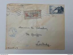 Lot De 4 Enveloppes Recommandées Envoyés De Quimper Vers Loctudy . Timbres Pointe Du Raz ... Lot43 . - France