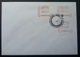 Cuba 1984 ATM (Frama Label Stamp FDC) *rare - Cartas
