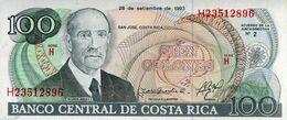 COSTA RICA  100  1993 UNC - Costa Rica