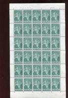 Belgie 1959 1093 Charles V Charlequint & J. De Tassis Luppi Full Sheet MNH Plaatnummer 1 - Full Sheets