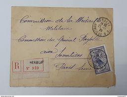 Enveloppe Recommandée De Herblay Vers Le Général Fayolle - Médaille Militaire - Merson Yvert&Tellier 144  ... Lot43 . - 1900-27 Merson