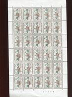 Belgie 1962 1212 DVDP Horse Facteur  Luppi Full Sheet MNH Plaatnummer 1 - Feuilles Complètes