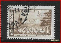 ARGENTINA   1959/1964  Proceres Y Riquezas Nacionales  GJ 1140/1141  TIERRA DEL FUEGO  WM  USED - Argentine