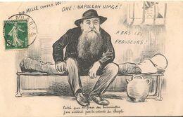 """NARBONNE  :Crise Viticole """"A Bas Les Fraudeurs"""" - Caricature : Ferroul , Maire,en Prison Sous Le Regard De Clemenceau - Narbonne"""