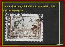 ARGENTINA   1969   Proceres Y Riquezas Nacionales  GJ  1472   TIERRA DEL FUEGO  WM   CASA DE LA MONEDA  USED - Argentine