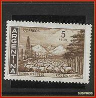 ARGENTINA   1959/1971  Proceres Y Riquezas Nacionales  GJ  1490  TIERRA DEL FUEGO  NO WM MINT ** - Neufs