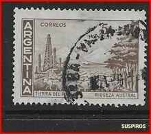 ARGENTINA   1959/1971  Proceres Y Riquezas Nacionales  GJ  1140  TIERRA DEL FUEGO  WM USED 37.5 X 29.5 - Argentine