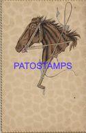 140345 ART ARTE EMBOSSED  HORSE FACE PROFILE POSTAL POSTCARD - Illustrators & Photographers