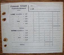 Brasserie Fernand Titart. Frasnes Lez Buissenal . - Levensmiddelen