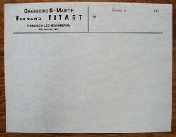 Brasserie Saint-Martin . Fernand Titart. Frasnes Lez Buissenal . - Levensmiddelen