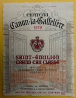15543 - Château Canon-La-Gaffelière 1979 Saint Emilion - Bordeaux